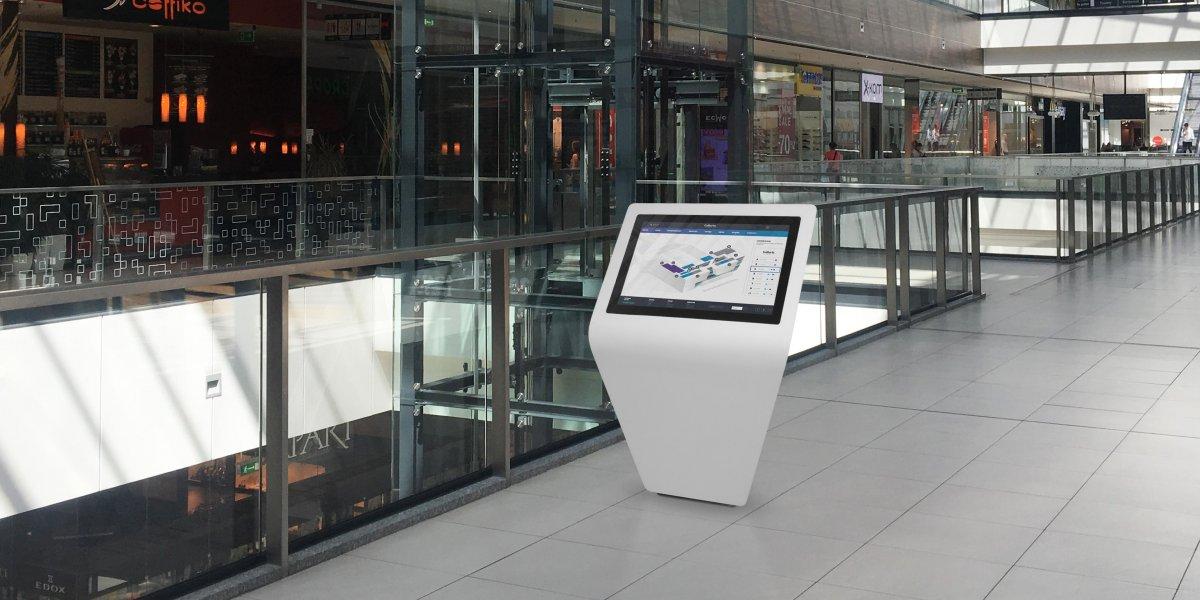 Kiosk multimedialny FIN. Laureat Red Dot. Product Design 2018. Rozwiązania multimedialne. Digital Signage. Kiosk multimedialny I CITY. Ekspert komunikacji wizualnej