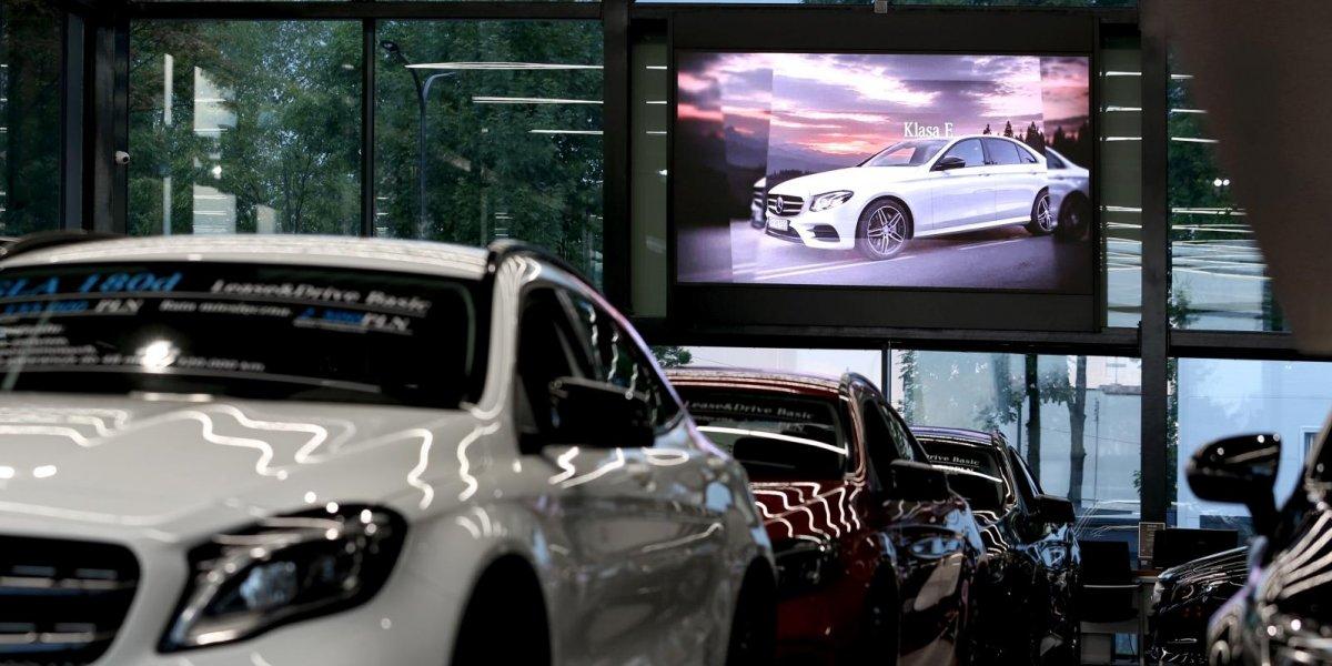 Mercedes. Digital Signage. Ekran LED I CITY. Ekspert komunikacji wizualnej